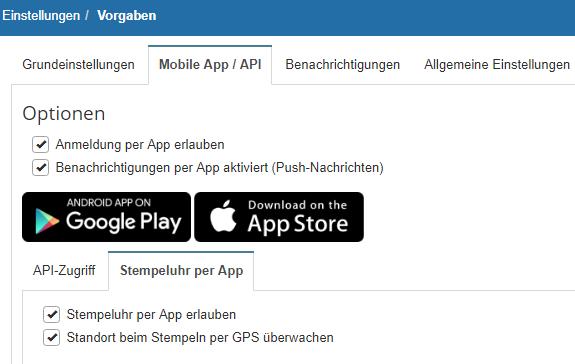 Stempelfunktion Smartphone
